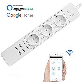 povoljno Utičnice-Utičnica / Smart Plug Vremenska funkcija / s USB priključnicama / Brzi punjenje 2.0 1pc ABS + PC / 750 ° C APP / Radarska kontrola / Andriod 4,2 gore Amazon Alexa Echo / Google pomoćnik / Gnijezdo