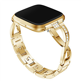 cheap Smartwatch Bands-Watch Band for Fitbit Versa / Fitbit Versa Lite Fitbit Jewelry Design Metal / Stainless Steel Wrist Strap