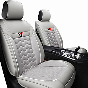 cheap 90%OFF-Car Seat Cushions Polyester Fabric/Leather universal Black / Red / Orange / Black