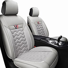 preiswerte 90%OFF-Autositzkissen Sitzbezüge schwarz / rot / orange / schwarzes Polyestergewebe / Leder common / business für alle Jahre