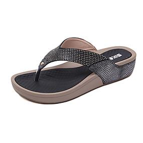 2d70e2e170b7 Women s PU(Polyurethane) Spring   Summer Casual   Sweet Slippers   Flip- Flops Wedge Heel Round Toe Rhinestone Black   Blue   Almond