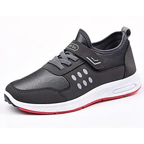 baratos Sapatos Esportivos Masculinos-Homens Sapatos Confortáveis Algodão Primavera Tênis Caminhada Preto / Azul / Cinzento