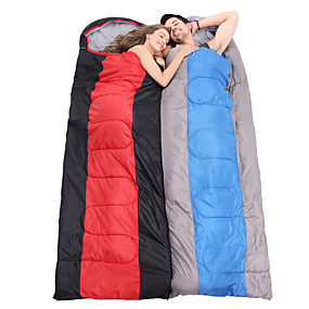 cheap Daily Deals-Sleeping Bag Outdoor Envelope Rectangular Bag 2 pcs for 2 person -5-15 °C Double Size Cotton Waterproof Portable Windproof Warm Moistureproof Ultra Light (UL) Breathability Anti-Insect Foldable
