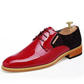 baratos Oxfords Masculinos-Homens Sapatos formais Sintéticos Primavera / Outono Casual / Formais Oxfords Não escorregar Estampa Colorida Preto / Vinho / Lantejoulas / Sapatos de vestir