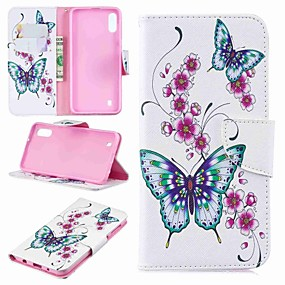 cheap Cellphone Case-Case For Samsung Galaxy Galaxy J6 Plus(2018) / J2 PRO 2018 Wallet / Card Holder / Flip Full Body Cases Butterfly Hard PU Leather for J6 (2018) / J6 Plus / J4 (2018)