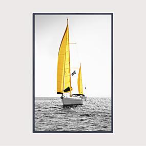 povoljno Trends-Uokvireni print Uokvireno platno - Pomorstvo i nautika Plastika Ilustracija Wall Art