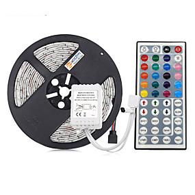 Χαμηλού Κόστους Σπίτι & Κήπος-5m Ευέλικτες LED Φωτολωρίδες / Σετ Φώτων / Φωτολωρίδες RGB 300 LEDs 5050 SMD RGB Αδιάβροχη / Μπορεί να κοπεί / Συνδέσιμο 12 V 1set / IP65 / Αυτοκόλλητο