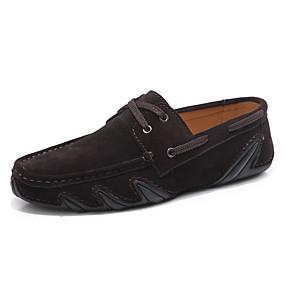 baratos Sapatos Náuticos Masculinos-Homens Sapatos Confortáveis Camurça Primavera Verão Sapatos de Barco Não escorregar Preto / Castanho Escuro / Cinzento