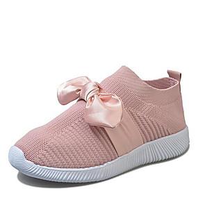 voordelige Damessneakers-Dames Tissage Volant Lente zomer / Herfst winter Sneakers Platte hak Grijs / Blauw / Roze