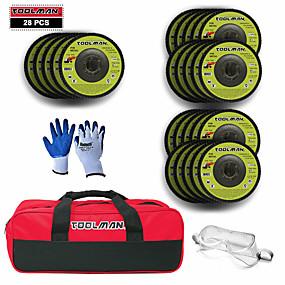 povoljno Tool Accessories-28pc 4-1 / 2 u pješčanoj brusnoj ploči diska + zaštitne naočale + torba za alat + rukavica