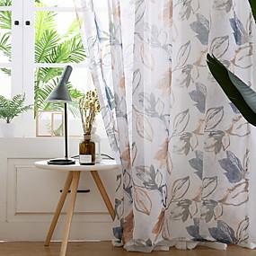 billige Gratis levering-Moderne Ren Et panel Ren Soverom   Curtains