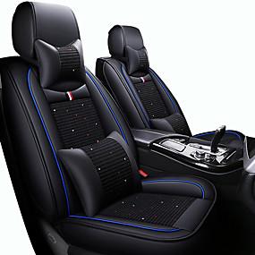 billige Nyankomne i august-pustende bilstolputer seteputer svart / rød / svart / hvit / svart / blå pu skinn / kunsthåndverk som er vanlig for universal alle år fem seter