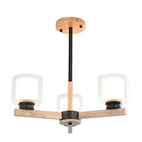 halpa Kattovalaisimet ja tuulettimet-Ecolight 3-Light Kynttilä-style / Sputnik / teollinen Kattokruunu Alavalot Puu Puu / bambu Lasi Uusi malli, Tyylikäs 110-120V / 220-240V