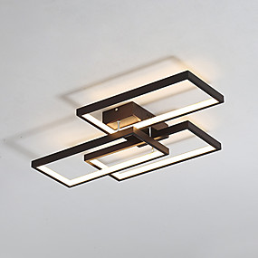 povoljno Ingyen szállítás-JSGYlights Geometrijski Flush Svjetla Ambient Light Slikano završi Metal silika gel New Design 110-120V / 220-240V Meleg fehér / Bijela