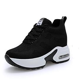 baratos Sapatos Esportivos Femininos-Mulheres Tissage Volant Outono & inverno Casual Tênis Creepers Dedo Apontado Branco / Preto / Preto / Vermelho