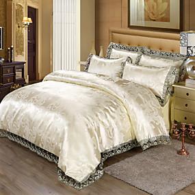 cheap High Quality Duvet Covers-Duvet Cover Sets Luxury Cotton Reactive Print / Jacquard 4 PieceBedding Sets