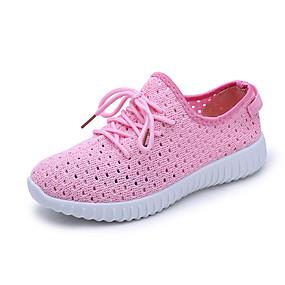 baratos Sapatos Esportivos Femininos-Mulheres Tissage Volant Primavera Verão Tênis Sem Salto Vermelho / Azul / Rosa claro
