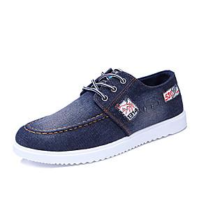 baratos Tênis Masculino-Homens Sapatos Confortáveis Jeans Primavera Verão Casual Tênis Não escorregar Estampa Colorida Azul Escuro / Azul