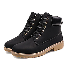 baratos Botas Masculinas-Homens Sapatos Confortáveis Couro Ecológico Outono & inverno Botas Botas Curtas / Ankle Marron / Cinzento Escuro / Verde Tropa