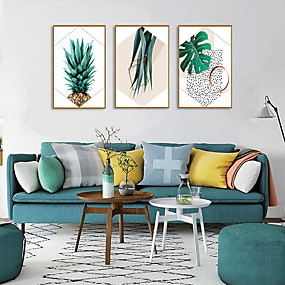 cheap Trending-Framed Art Print Framed Set - Abstract Floral / Botanical PS Illustration Wall Art
