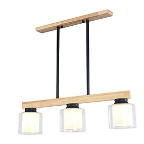 halpa Kattovalaisimet ja tuulettimet-suorakulmio 3 valoa kattokruunu / alasvalon puu / bambu lamppu ruokailuhuoneen uudelle muotoilulle 110-120v / 220-240v / ilman lamppua