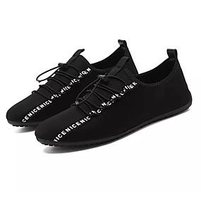 baratos Tênis Masculino-Homens Sapatos Confortáveis Tecido elástico Verão Casual Tênis Não escorregar Preto / Vermelho
