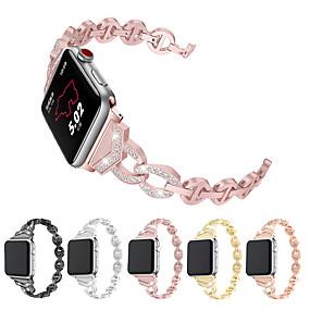 povoljno Smartwatch bendovi-Pogledajte Band za Apple Watch Series 4/3/2/1 Apple Moderna kopča Metal / Nehrđajući čelik Traka za ruku