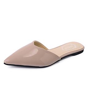 povoljno Udobne cipele-Žene PU Proljeće ljeto / Jesen zima slatko / minimalizam Klompe i natikače Ravna potpetica Krakova Toe Zakovica Obala / Crn / Light Pink