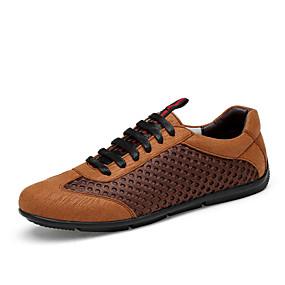 baratos Tênis Masculino-Homens Sapatos Confortáveis Com Transparência Outono / Primavera Verão Clássico / Casual Tênis Caminhada Não escorregar Preto / Marron