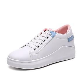 voordelige Damessneakers-Dames Sneakers Comfort schoenen Creepers Ronde Teen PU Vintage / minimalisme Zomer / Lente zomer Geel / Roze / Feesten & Uitgaan / leuze