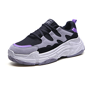 baratos Sapatos Esportivos Masculinos-Homens / Unisexo Sapatos Confortáveis Com Transparência Primavera Verão Casual Tênis Respirável Roxo / Prata / Vermelho / Não escorregar / Use prova