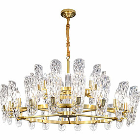 cheap Ceiling Lights & Fans-ZHISHU Crystal / Empire Chandelier Ambient Light Electroplated Crystal Crystal, New Design 110-120V / 220-240V Warm White / White