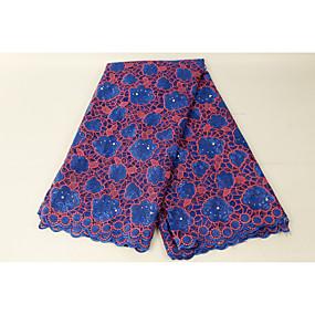 povoljno Domaća radinost i šivanje-Afrička čipka Cvjetnih Uzorak 130 cm širina tkanina za Posebne prilike prodan od 5Yard