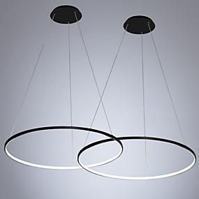 billige Hengelamper-2pcs / lot led30w moderne sirkel anheng lys omgivende lys malt for soverom spisesal / varm hvit / hvit / dimbar med fjernkontroll / wifi smart kontroll / 110-120v / 220-240v