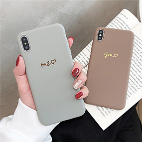 cheap iPhone Cases-Case For Apple iPhone XS Max / iPhone 6 Frosted / Pattern Back Cover Word / Phrase Soft TPU for iPhone XS / iPhone XR / iPhone XS Max