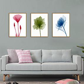 povoljno Trends-Uokvireni print Uokvireni set - Sažetak Cvjetni / Botanički Polistiren Ilustracija Wall Art