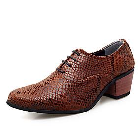 baratos Oxfords Masculinos-Homens Sapatos Confortáveis Com Transparência Primavera Verão Negócio / Casual Oxfords Não escorregar Branco / Vermelho / Marron