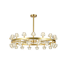 cheap Ceiling Lights & Fans-ZHISHU 30-Light Crystal / Empire / Industrial Chandelier Ambient Light Electroplated Copper Crystal, New Design 110-120V / 220-240V Warm White / White