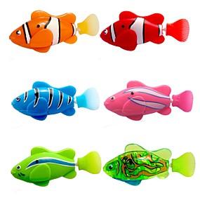 povoljno Bazeni i zabava na vodi-bljesak transparentno elektronski riba ljubimac igračka robot ribu - Pink + ljubičasta (2 x l1154)