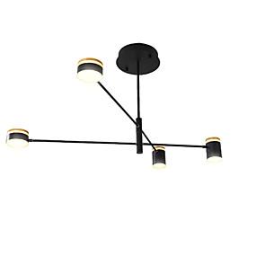 halpa Kattovalaisimet ja tuulettimet-johtanut teollinen kattokruunu / ympäröivä valo musta maalattu olohuoneeseen makuuhuone 110-120v / 220-240v / lämmin valkoinen / valkoinen