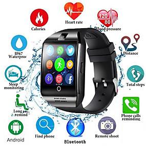 billige Spesialtilbud-q18s smart klokke menn støtter tf sim kort push melding svar ringe treningssporing bluetooth smartwatch for android telefon