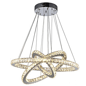 cheap Home Improvement-LED Crystal Pendant Lights Ceiling Chandeliers Lamp Hanging Fixtures for Dining Living Room Hotel Home 110-120V / 220-240V