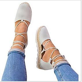 voordelige Damesschoenen met platte hak-Dames Platte schoenen Platte hak Ronde Teen Suède Zomer Zwart / Licht Grijs / Licht Roze