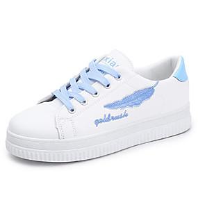 voordelige Damessneakers-Dames Sneakers Platte hak Ronde Teen Polyester Lente Zilver / Blauw / Roze