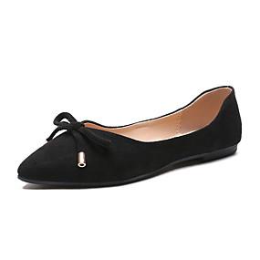voordelige Damesschoenen met platte hak-Dames Platte schoenen Platte hak Gesloten teen PU Lente & Herfst Zwart / Beige