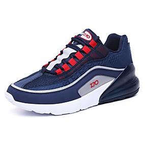 baratos Sapatos Esportivos Femininos-Mulheres Tênis Calcanhar Heterotípico Sintéticos Esportivo Caminhada Primavera Verão Preto / Cinzento / Azul