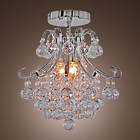 povoljno Kristal Svjetla-QINGMING® 3-Light Geometrijski / Mini Lusteri Downlight Electroplated Metal Mini Style 110-120V / 220-240V