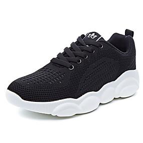 baratos Sapatos Esportivos Femininos-Mulheres Tênis Salto Baixo Dedo Aberto Com Transparência Colegial Caminhada Verão Preto / Branco / Marron / Casamento