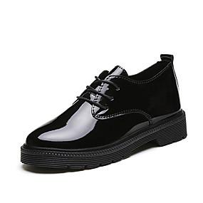 voordelige Dames Oxfords-Dames Oxfords Comfort schoenen Blokhak Lakleer Lente Zwart / Wijn
