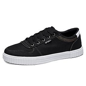 baratos Tênis Masculino-Homens Sapatos Confortáveis Lona / Jeans Verão Casual Tênis Não escorregar Preto / Azul Escuro
